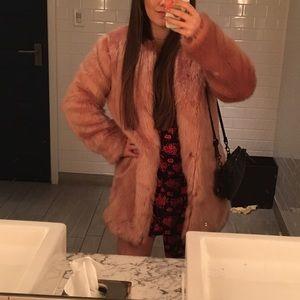 LPA pink faux fur coat